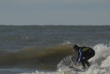 Surfers in Ouddorp