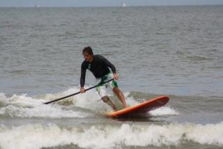 Gebruiken je paddle bij het draaien van een bocht