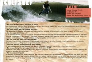 Rianca Pronk bij surfschool surfkaravaan